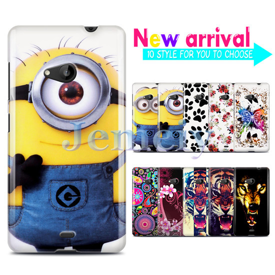 New Phone Cases For Microsoft Lumia 535, Minions Printed Gel Case, Ultra Thin TPU Skin Glossy Back Cover With Gift(China (Mainland))
