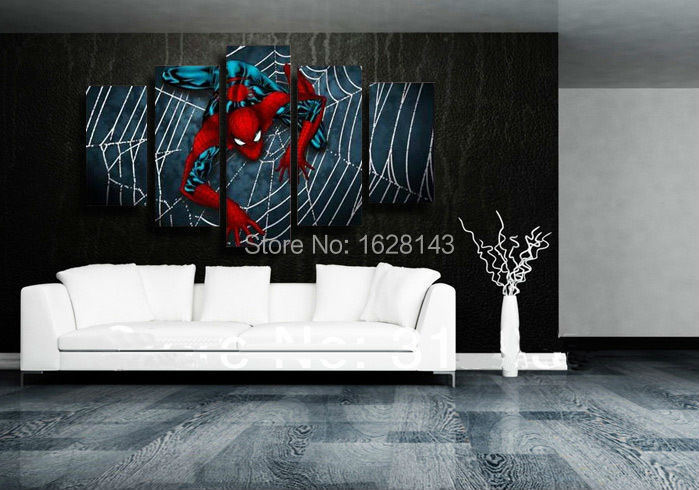 pop movie cartoon canvas oil paintings Spider man wall art modern abstract home decoration picture hand made 5P274 - Soton Painting Store store