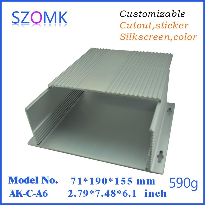 10 pcs/lot flipbook free box for diy aluminum metal electronic enclosure boxes case 71*190*155mm <br><br>Aliexpress