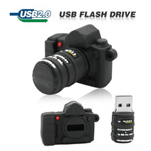 Fasion Usb Flash Drive USB 2.0 Pendrive 4GB 8GB 16GB 32GB Pen drive Mini black camera Memory stick lovely U Disk with DSLR logo(China (Mainland))