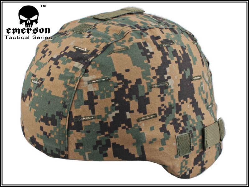 EMERSON Helmet Cover For MICH 2000 gen1 safty helmet accessories Woodland MARPAT EM8808(China (Mainland))