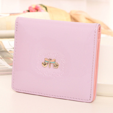 Light Candy Color Women Wallet Japan and Korea Style Short Lady Clutch Animal Prints Dragonfly Multifunctional Change Bags