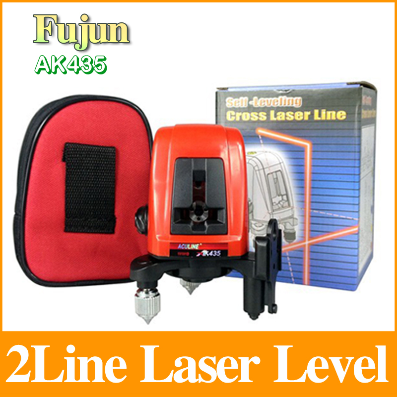 2 Lines Laser Level Ak435 1V1H Horizontal And Vertical Rotary 360 Degree Cross Laser Line LL34(China (Mainland))