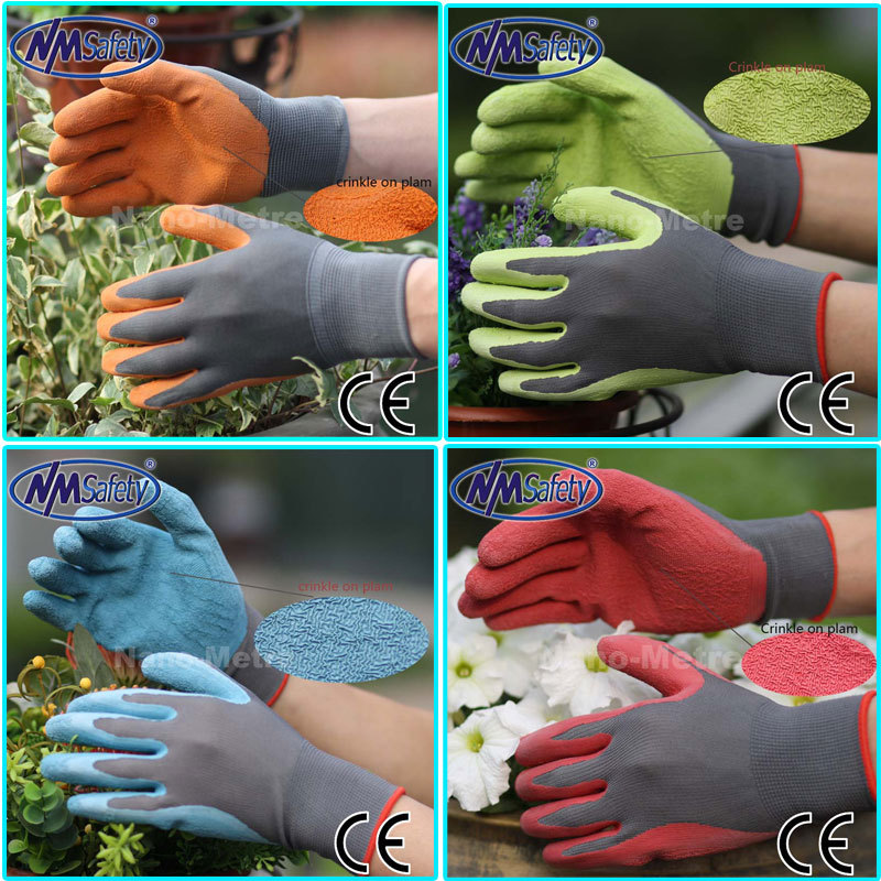 NMSAFETY 13G latex coated light industrial gloves gardening gloves latex garden gloves many color option<br><br>Aliexpress