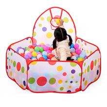 Large Children Kid Ocean Ball Pit Pool Game Play Tent with Ball Hoop Indoor Outdoor Garden Playhouse Kids Tent(China (Mainland))
