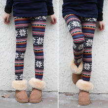 2016 New Womens Multi-color Snowflake Print Soft Knitted Winter Warm Leggings(China (Mainland))