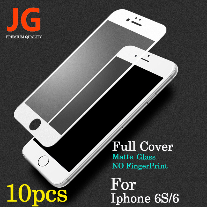 JG 10pcs lot Front Full font b Screen b font Protection Tempered Glass for font b