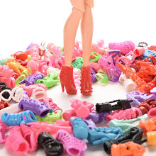 15Pairs Colorful Assorted Shoes For Barbie Doll With Different Styles Fashion Toy Girls Christmas Gift(China (Mainland))