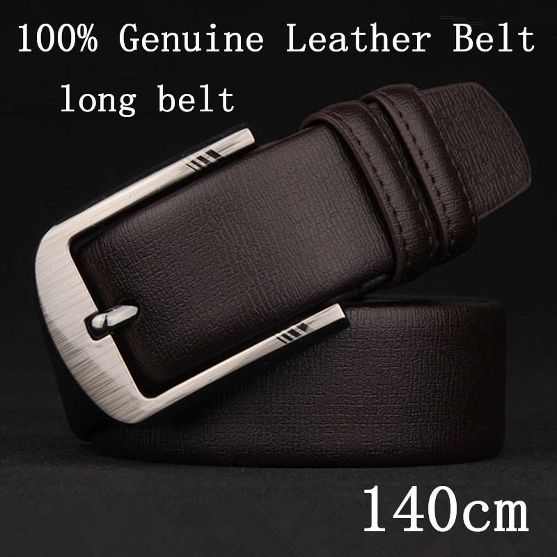 Men's long belt leather strap large number of casual luxurybelt fashion leather belt men's jeans Taste men belt for men(China (Mainland))
