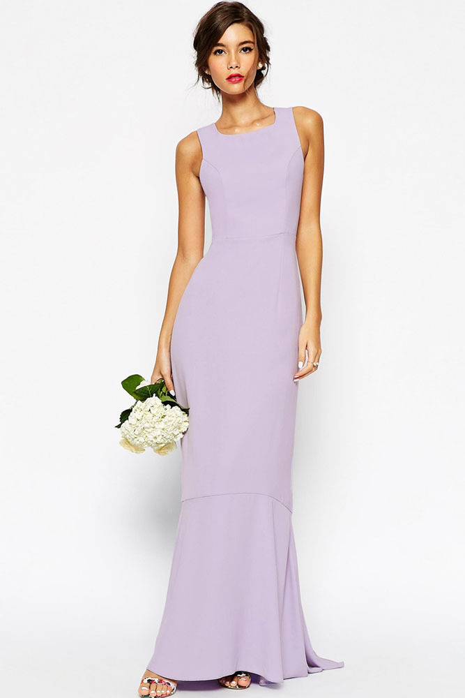 2015 long summer women light purple fishtail wedding maxi for Purple maxi dresses for weddings