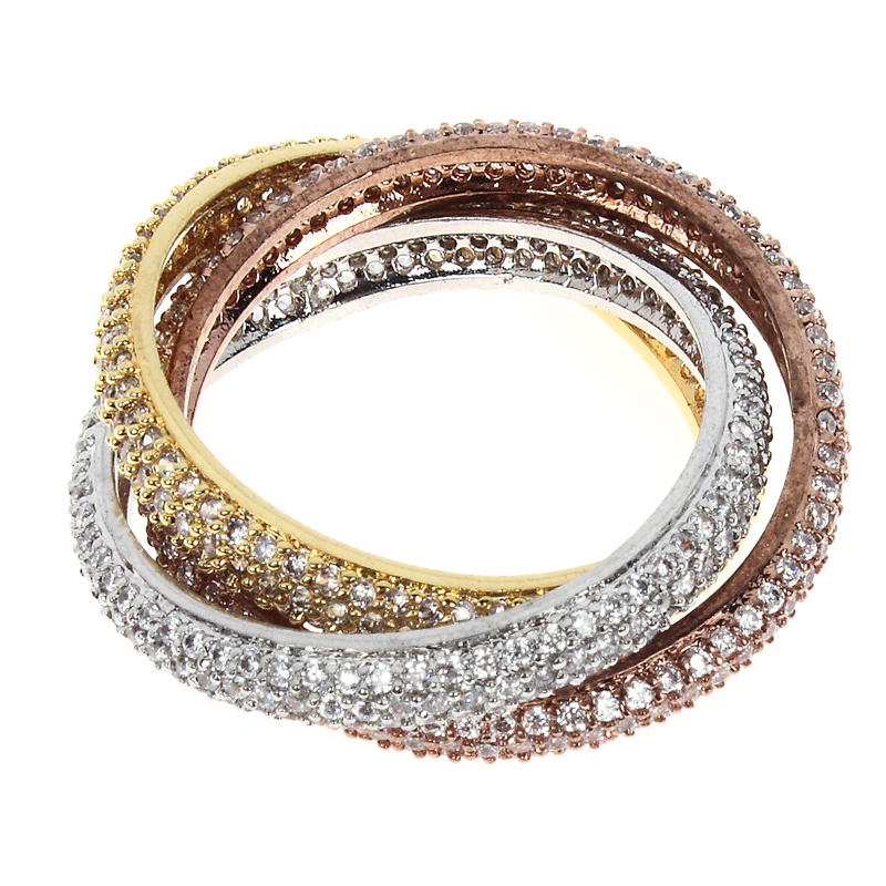 Free Shipping Top Quality Real Gold Plated Engagement Rings With Cubic Zirconia Wedding Jewelry Ring Women Fashion(China (Mainland))