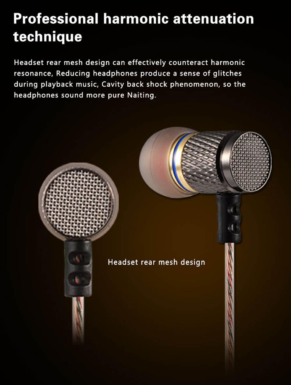 2016 KZ-ED2 Professional In-Ear Sport Earphone Metal Heavy Bass Sound Music Earphones Brand Headset fone de ouvido profissional