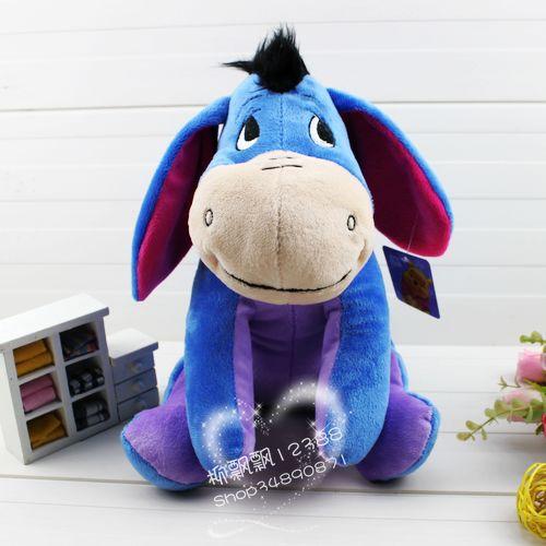 Hot selling 1pcs 1# 25cm movie doll Eeyore donkey plush toy dolls Free shipping(China (Mainland))