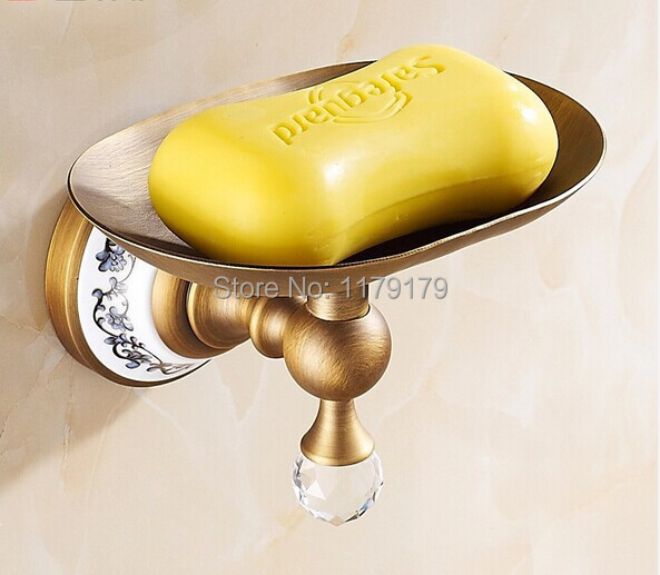 free shipping Copper European Classical style antique brass finish soapbox bathroom accessories TC6109(China (Mainland))