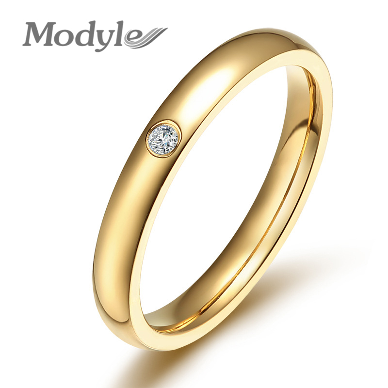 Ring Stainless Steel Rings For Women Crystal Engagement Wedding Ring