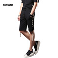 Street Fashion Hiphop Punk Style Men Shorts Elastic Waist Trousers Male Casual Slim Fit Shorts Stage