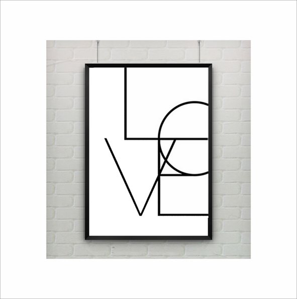 Typography printable Poster, Love Letters Word wall Art,love quotes canvas print artwork bar decor(China (Mainland))