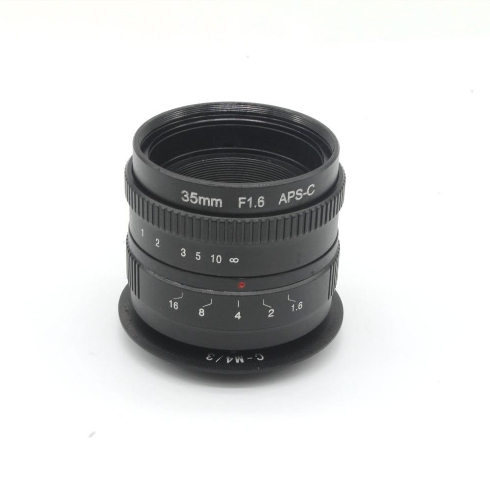 35mm f1.6 C mount CCTV camera Lens for APS-C sensor camera with C-M4/3 adapter ring For Olympus PEN E-PL5,E-PM3,E-PM2,E-P3(China (Mainland))