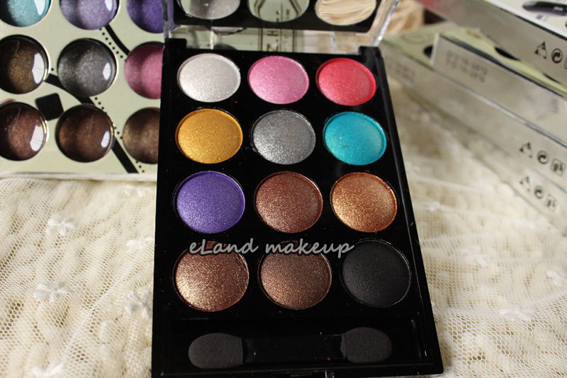 12 Colors Eyeshadow Cosmetics Mineral Make different colors Natural Eye Shadow Palette Random delivery - Eland Makeup CO.,LTD store