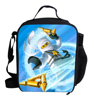 2015 Cool Kids Ninjago Cooler Bag Food Children Thermal Insulated Picnic Bags Girls Travel Lunch - School Outlet store