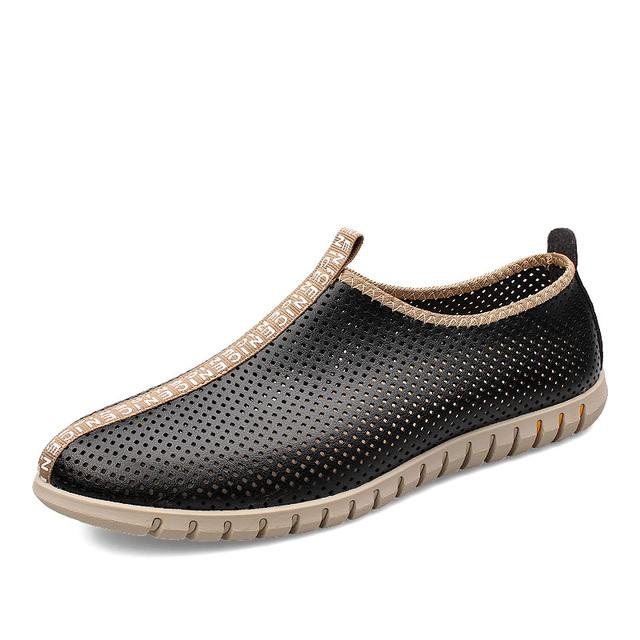 Летние ботинки Большой размер Euro38-47 из натуральной кожи мужская мода выдалбливают ...