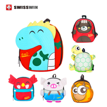 2016 New Arrival Swisswin Designer Baby Bag Light Weight Fashion Bag For Kids Waterproof School Backpack Satchel(China (Mainland))