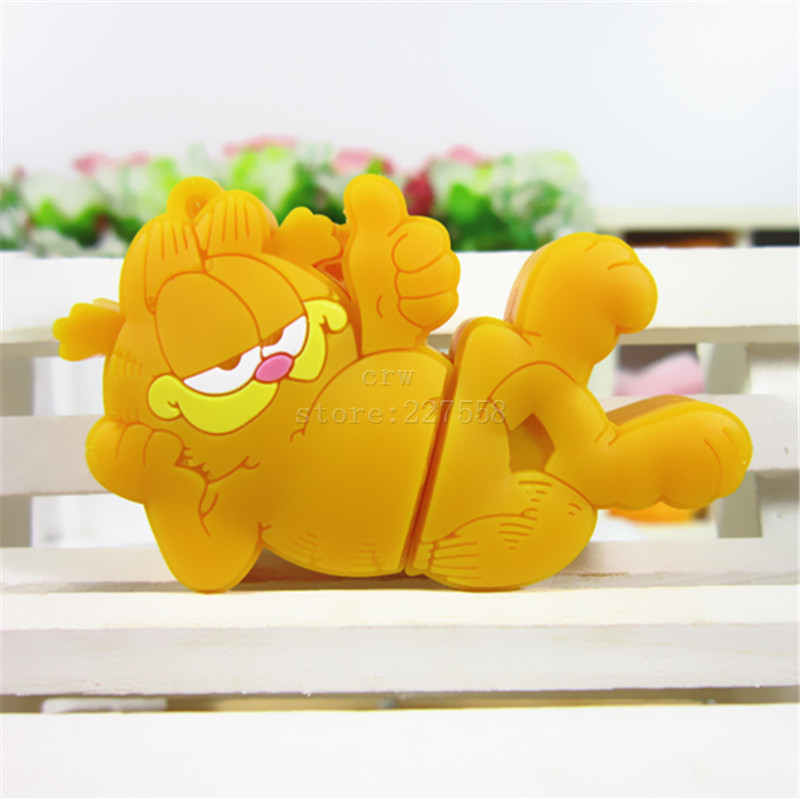 pen drive Garfield cat 8GB/16GB/32GB/64GB usb 2.0 flash drive flashdrive memory stick pendrive(China (Mainland))