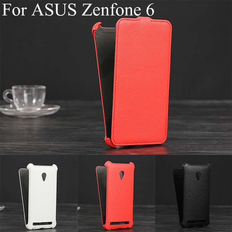 Luxury Lichee Pattern flip Leather Case for Asus Zenfone 6 leather cover
