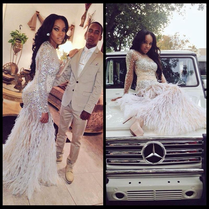 Fantastic White Feather Prom Dress Composition - Wedding Dress Ideas ...