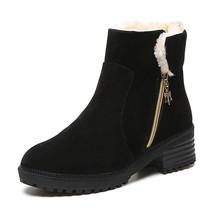 2016 Nueva Moda Zip Mujeres Nieve Botas High Top Martin Zapatos Planos Grandes del Tamaño para Las Mujeres X1029 35(China (Mainland))