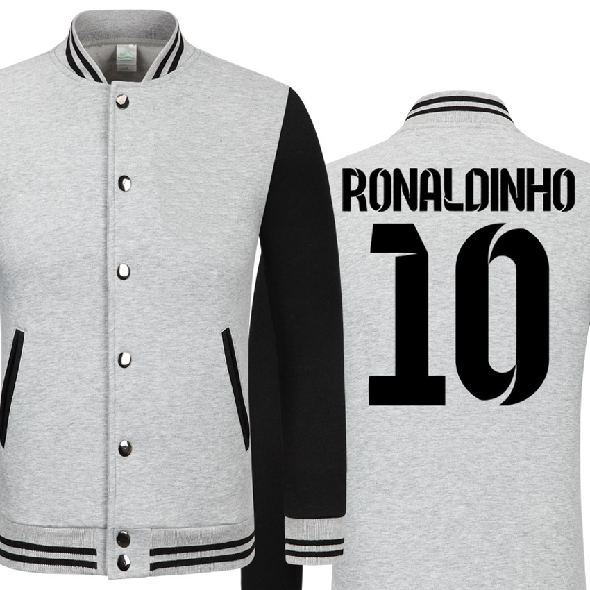 2016 soccer star Ronaldinho thick velvet baseball uniform barcelonae kids tracksuit camisetas de futbol barcelonae jacket(China (Mainland))
