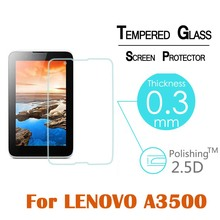 Explosion-proof Tempered Glass Front Screen Protector Film For Lenovo A3500 7″ 0.3mm 2.5D HD Tablet with free shipping