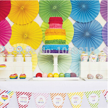 Paper Fans Wedding Favors Birthday Party Decorations Kids Wedding Decoration Table Centerpieces Event Party Supplies(China (Mainland))