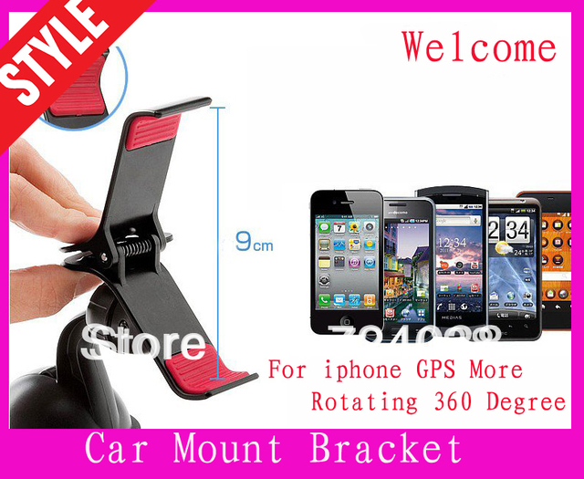 Wholesale  Mobile Phone GPS car holder   for iPhone 4 4S for iPhone 5 for HTC  for Samsung Galaxy S4(not tracking number)