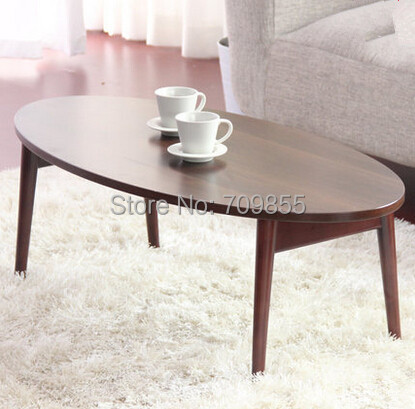 Folding Sofa Table Furniture Contemparay Low Center Coffee Table Oval Modern Wooden Laptop Corner Sofa Table(China (Mainland))