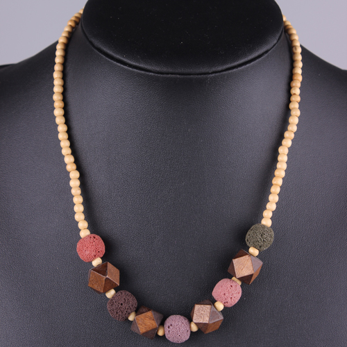 Wooden Bead New Fashion Jewelry Necklace Statement Nature Stone Free Shipping Vesuvianite Luxury Artificial Simple<br><br>Aliexpress