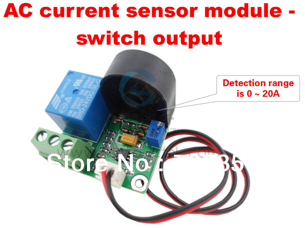 & Retail, Current detection sensor,0-20A AC output short circuit protection switch - logoele Flagship store