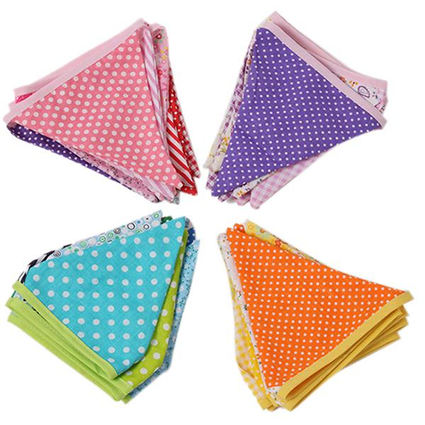 colorful fabric flags bunting Pennant party decoration banner home decoration party supplies events wedding decoration IC678809(China (Mainland))