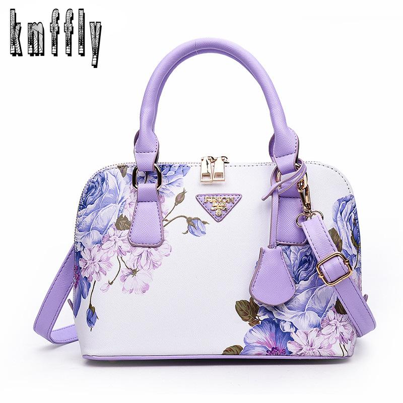Printing Floral Fashion Women Bag Brand Shell Leather Bags Women Handbags Designer Summer Shoulder Bags Sac A Main Femme 2017(China (Mainland))