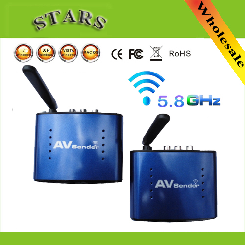 5.8G Wireless AV Sender TV Audio Video Transmitter Receiver IR Remoter Extender Original adapter PAT530,Wholesale Free Shipping(China (Mainland))