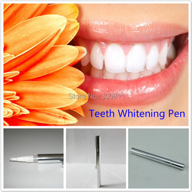 Free Shipping Teeth Whitening Pen, Bleaching Cosmetic Pen Soft Brush Applicator Tooth Whitening with 35% carbamide peroxide 1pc(China (Mainland))