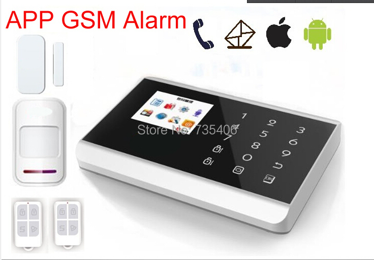 2014 Newest GSM and PSTN Dual network Home alarm system with Android &amp; IOS <br><br>Aliexpress