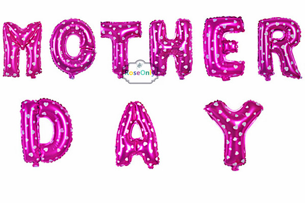 Free shipping 9pcs/set aluminum balloons Birthday Mother's Day letter balloons Price blue pink balloon decoration wholesale(China (Mainland))
