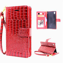 Buy 5 Styles Luxury Wallet Case Sony Xperia XA Flip Cover Pouch Crocodile PU Leather Phone Bags Cases Sony Xperia XA for $4.49 in AliExpress store