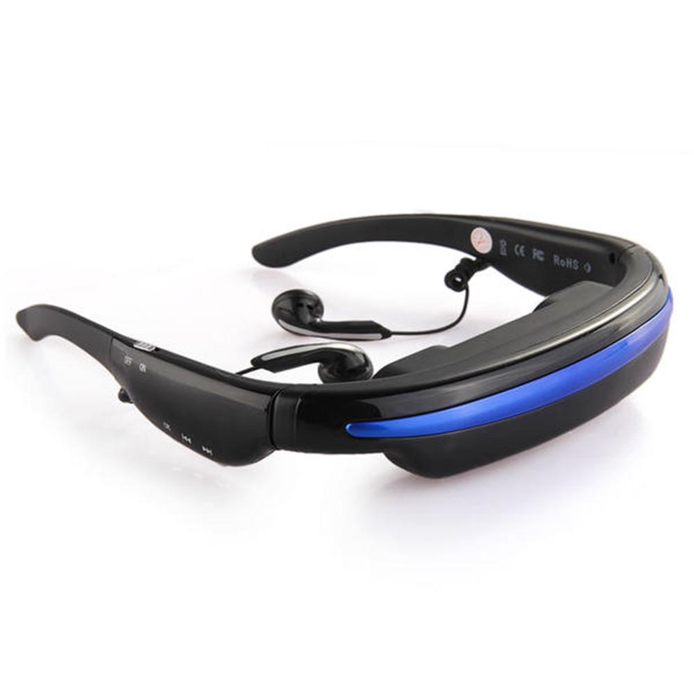 "Video Glasses Eyewear 52"" HD Screen Video Eyewear HD Camera Glasses 4GB 3D"