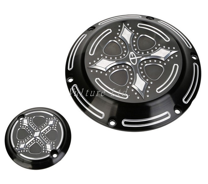 Black CNC Derby Timing Timer Cover For 2004-2014 Harley Sportster XL883 XL1200<br><br>Aliexpress