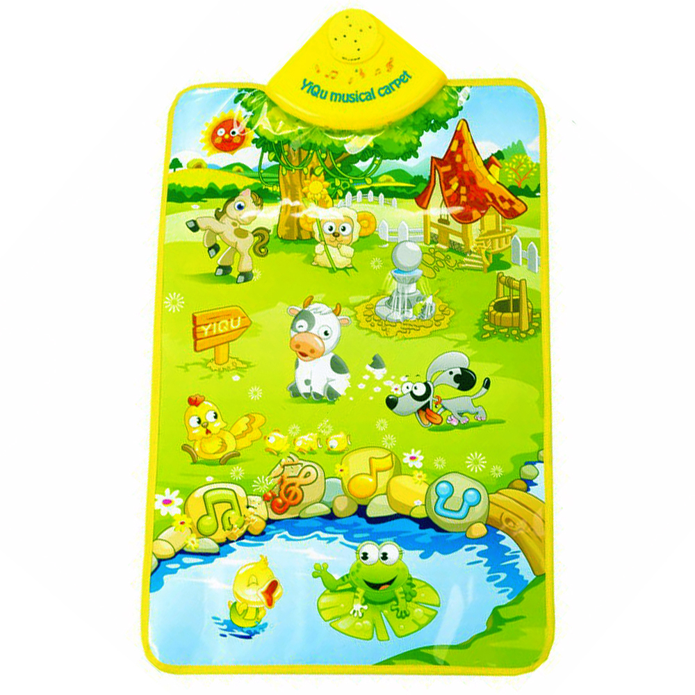 Baby Play Mats Educational Kids Toys mat mat for Children Farm Animals Sound Cognitive Chart Music Game Carpet for Baby Toys(China (Mainland))
