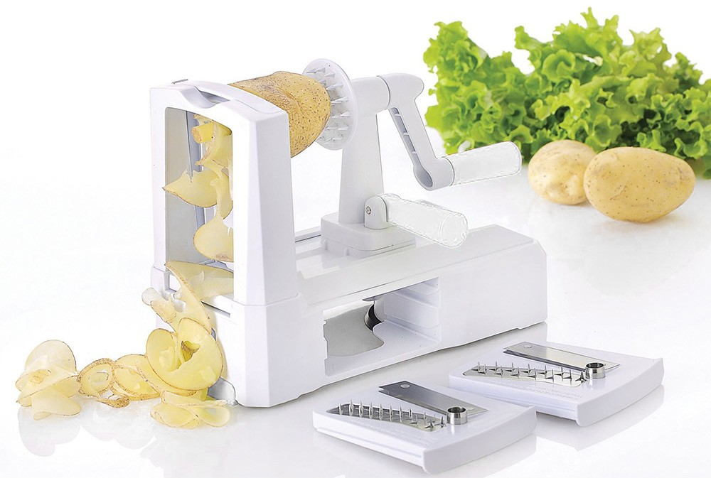Buy Hot sale 3 in 1 Fruit Peeler kitchen accessories Spiral Vegetable Slicer Cutter Shred Kitchen knife gadget Tools cheap