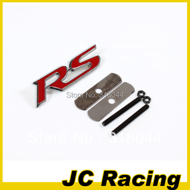 High quality 3D RS Metal Badge Front Grille badge Car Logo Sticker ,Auto Car Sticker for Ford Audi Toyota(China (Mainland))