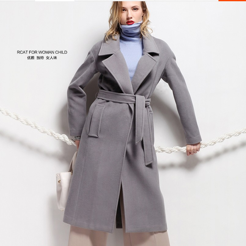 Fashion lengthen thickening woolen outerwear high quality large lapel wool overcoat femaleОдежда и ак�е��уары<br><br><br>Aliexpress